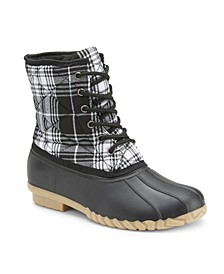 'Very Well Plaid' Duck Boots