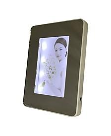 Rectangular Lighted Mirrored Photo Frame