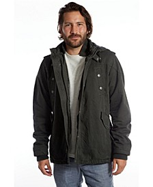 Medium Weight Jacket with Zip and Snap
