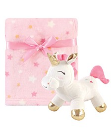 Baby Girl Plush Blanket and Toy