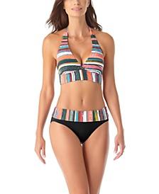 Halter Bikini Top & Foldover Bottoms