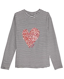 Big Girls Confetti Heart Lace-Up T-Shirt