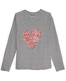 Big Girls Confetti Heart Lace-Up T-Shirt
