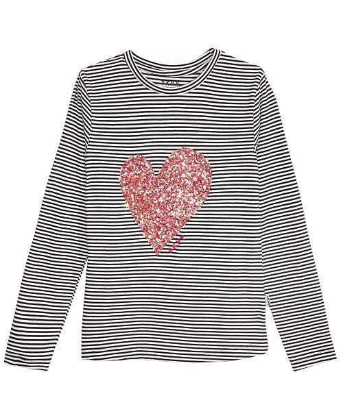 DKNY Big Girls Confetti Heart Lace-Up T-Shirt