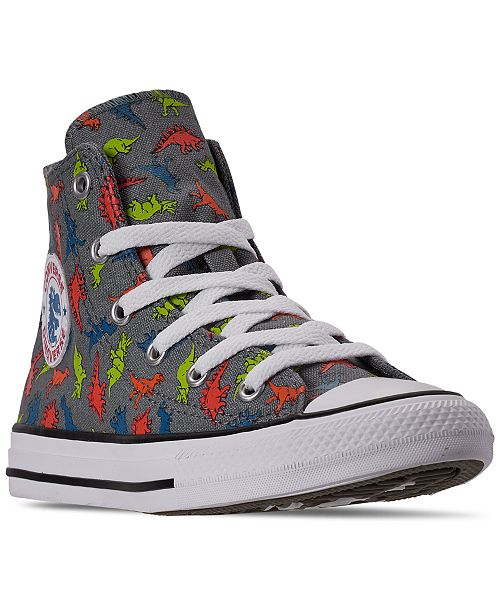 Converse Little Boys Chuck Taylor All Star Dinoverse High Top Casual Sneakers from Finish Line