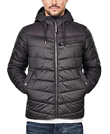 Men's Hooded Puffer Jacket, Created For Macy's