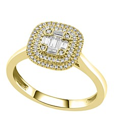Round and Baguette Diamond (1/3 ct. t.w.) Composite Ring in 14K Yellow Gold