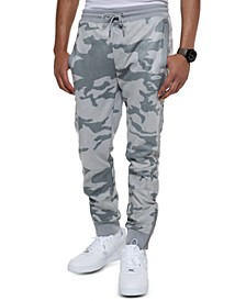 Men's Camo Faux Suede Track Pants