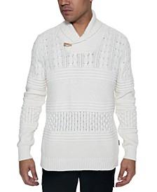 Men's Multi-Pattern Shawl Collar Sweater
