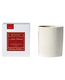 Holiday White Ceramic Boxed Candle