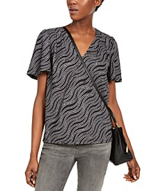 Chain-Print Top, Regular & Petite Sizes