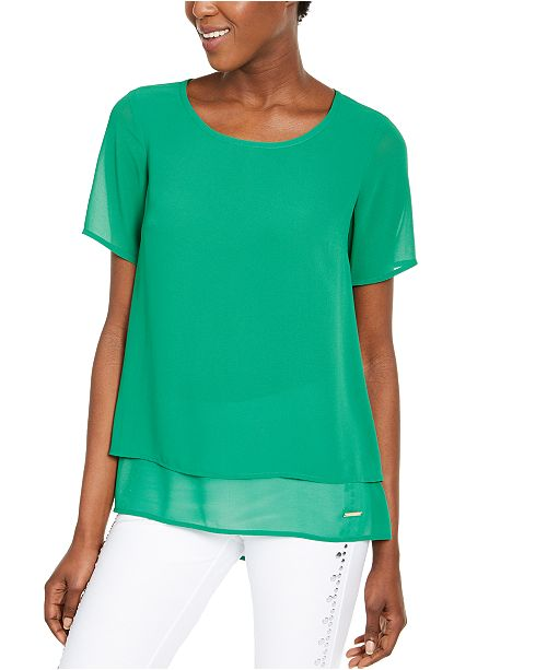 Michael Kors Layered Split-Back Top