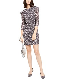 Lace Puff-Sleeve Sheath Dress, Regular & Petite Sizes
