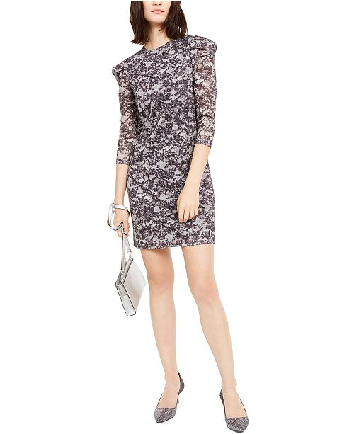 Michael Kors Lace Puff-Sleeve Sheath Dress, Regular & Petite Sizes