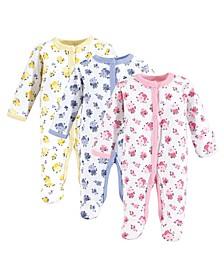 Baby Girl Preemie Sleep and Play, 3-Pack