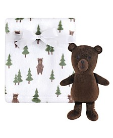 Baby Girls and Baby Boys Plush Blanket with Plush Toy Set