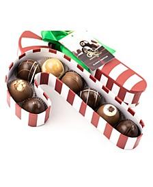 8 Piece Candy Cane Truffle Box