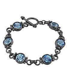 Black-Tone Toggle Bracelet