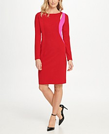 Two Tone Cutout Sheath Dress