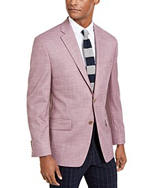 Men's Classic-Fit Light Burgundy Textured Sport Coat