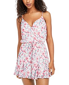Juniors' Surplice Romper