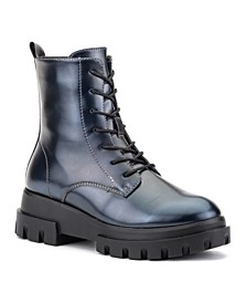 'Exhale' High Shine Combat Boots