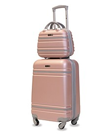 Varsity 2 Piece Carry-On Cosmetic Luggage Set