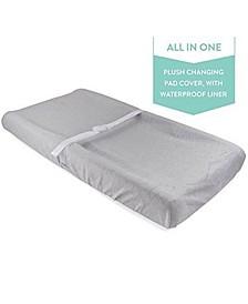 Water Resistant Plush Velvet Change Pad Cover