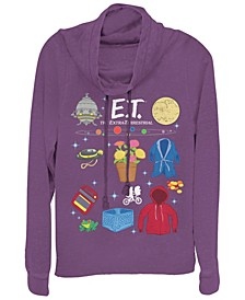 E.T. Symbolic Movie Props Cowl Neck Sweater
