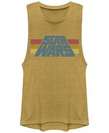 Star Wars Classic Stripe Logo Design Festival Muscle Tank