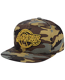 Mitchell & Ness Los Angeles Lakers Camo Neon Snapback Cap