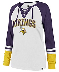 Women's Minnesota Vikings Lace Up Long Sleeve T-Shirt