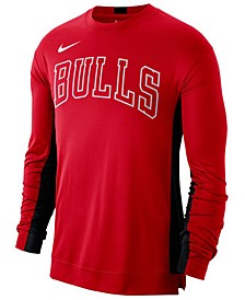 Men's Chicago Bulls Dry Top Long Sleeve Shooter Shirt