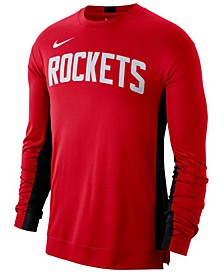 Men's Houston Rockets Dry Top Long Sleeve Shooter Shirt