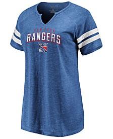 Women's New York Rangers Net V-Notch T-Shirt