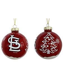 """St. Louis Cardinals 3"""" Glitter Holiday Ball"""