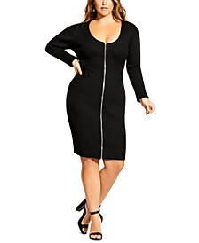 Trendy Plus Size Corset Sweater Dress