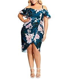 Trendy Plus Size English Blossom Dress