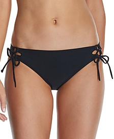 Juniors' Seychelles Solids Sweet Side-Tie Hipster Bikini Bottoms
