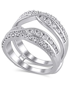 Certified Diamond (1-3/8 ct. t.w.) Guard Ring in 14K White Gold