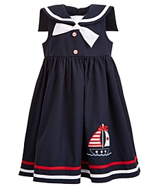 Toddler Girls Nautical-Collar Sailboat Dress