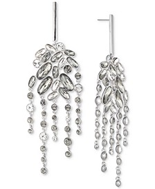 Silver-Tone Crystal & Stone Chandelier Earrings