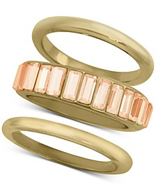 3-Pc. Set Baguette-Crystal Stack Rings