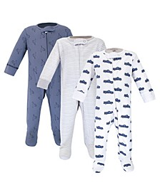 Baby Boy Sleep and Play, 3 Pack