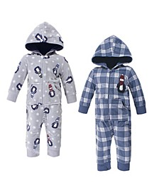 Baby Boy Fleece Coveralls and Jumpsuits, 2 Pack