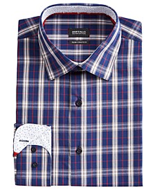 Men's Slim-Fit Yarn-Dyed Plaid Dress Shirt