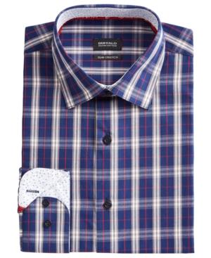 Men's Slim-Fit Yarn-Dyed Plaid Dress Shirt