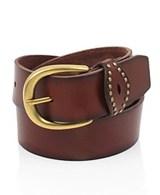 Frye & Co Leather Jeans Belt with Studded Loop