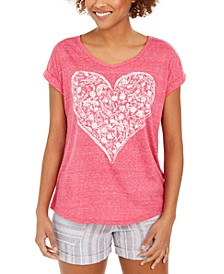 Petite Heart Graphic T-Shirt, Created for Macy's
