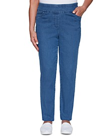 Pearls of Wisdom Stretch Denim Pull-On Jeans